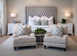 Larger pedestals compliment a larger bed and headboard