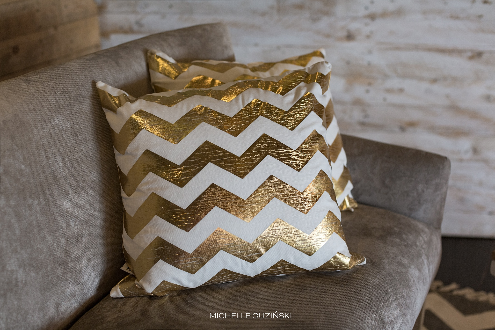 GOLD CHEVRON SCATTERS WAS AN OBVIOUS CHOICE!