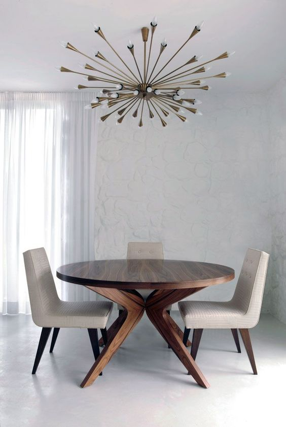 MID CENTURY MODERN LIGHT FITTING IN A CONTEMPORARY SPACE